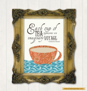 Tea Quote Print with Inspirational