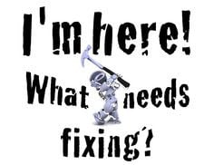 Funny sign for the diy or Mr. Fix It in the family- Handyman robot ...