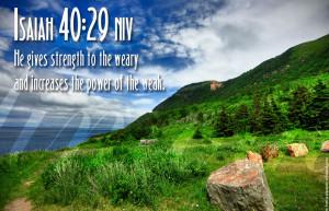 Bible Verse On Strength Isaiah 40:29 Scripture Christian HD Wallpaper