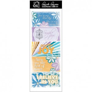 Quick Quotes - Summer Breeze Collection - Cardstock Strip - Words and ...