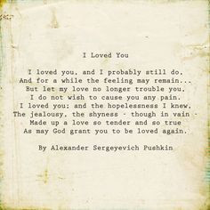 loved you by alexander pushkin poem more alexander pushkin random ...