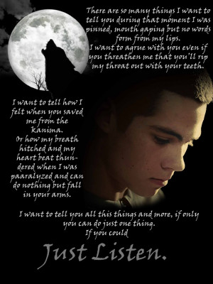 Displaying 18> Images For - Stiles Stilinski Drowning Quote...