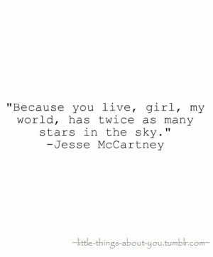 Jesse McCartney Quotes (Images)