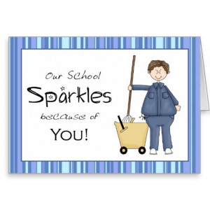 School Custodian Thank You Card