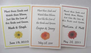 These packets will boast a a beautiful daisy design of your choice ...