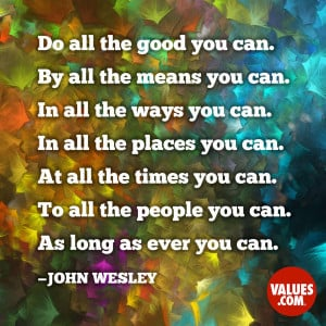 An inspiring quote about #stewardship from www.values.com #dailyquote ...