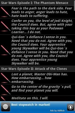 Star Wars quotes - screenshot