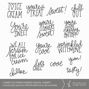 ... : Home > Products > I Heart Ice Cream Words & Phrases Digital Stamps