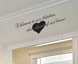 Welcome to Our Kitchen Wall Sticker Quote
