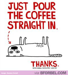 Every Monday morning, this is me. #coffee #cat #tired More