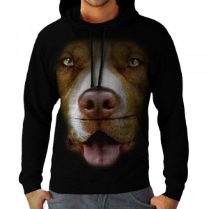 Wellcoda | pitbull bulldog grande divertido perro cara hombres ...