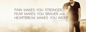 Pain,Fear,Heartbreak - Quotes FB Cover Photo