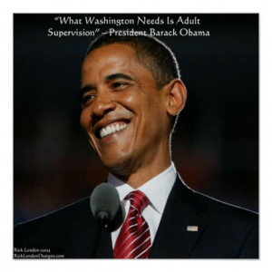 Barack Obama & Humor Quote Poster