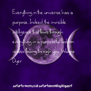 ... universe has a purpose. Wayne Dyer inspirational manifestation quote