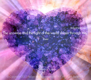 Inspirational, Healing Art by Robyn Nola and Inspiring Quote by Rumi