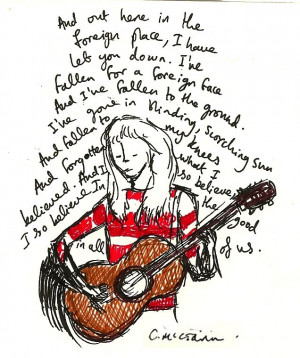Laura Marling portrait & quote (I'm a fly)