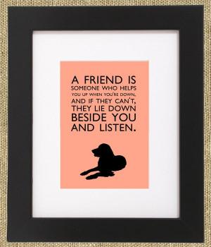 Dog Quotes Framed Golden Retriever Print