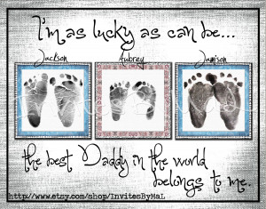 Personalized baby footprint or handprint keepsake gift PERFECT for ...