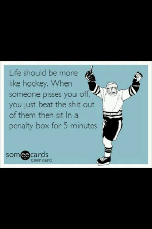 Hockey. Sorry for the language but this made me laugh