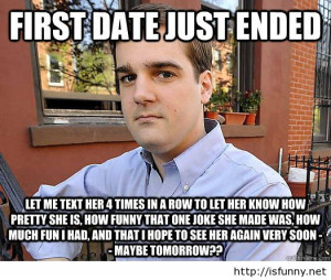 Funny first date meme