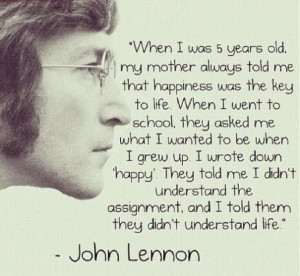 Funny inspirational john lennon quote 495x457