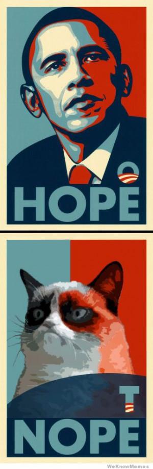 Hope Nope Grumpy Cat poster