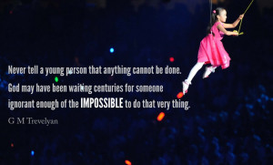 What we can or cannot do, what we consider possible or impossible is ...