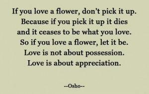 Appreciation-not-possession