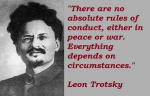 Trotskyism is thy name America?
