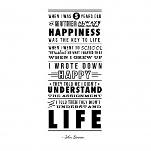 John Lennon Happiness Quote