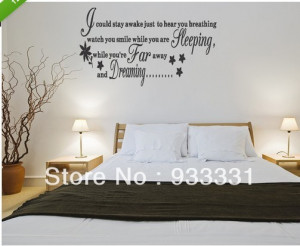 ... -BREATHING-Extra-Large-Large-WALL-STICKER-Quote-Bedroom-Art-.jpg