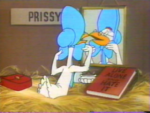 Who are the hens who tease Miss Prissy?