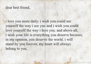 for all my dearest best friend, you know who you are.