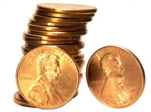 Maybe instead of placing those pennies into the bank, you should ...