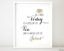 Printable Bible verse, quote wall art, Christian print wall decor