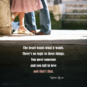 The heart wants what it wants. There's no logic to these things. You ...