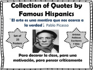 COLLECTION OF QUOTES BY FAMOUS HISPANICS BULLETIN BOARD SET ...