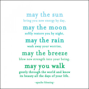 ... New Energy Every Day - Apache Blessing- Quotable Inspirational Magnet
