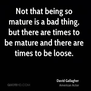 David Gallagher Quotes