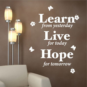 ... -Learn-Live-Hope-Butterflies-Inspirational-Vinyl-Wall-Quotes-Stickers