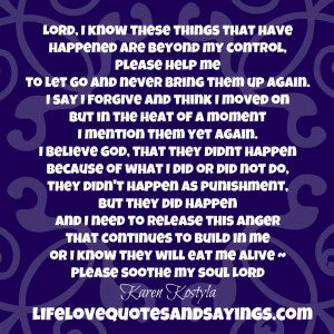 ... me or I know they will eat me alive ~ Please soothe my soul Lord
