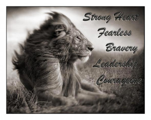 lion with quotes and sayings
