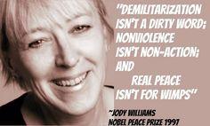 Jody Williams - Nobel Peace Laureate, 1997 nobelwomensinitia...