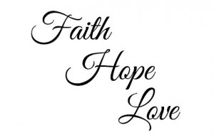 Faith Hope Love - Temporary Tattoo - Quote tattoo - Tattoo Word