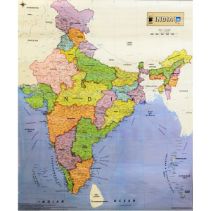 India Political Wall Map...