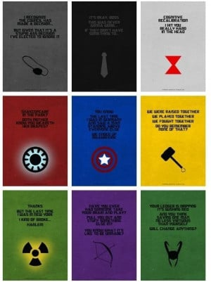 Awesome quotes from the Avengers.