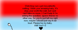Will You Be Mine Quotes Will you be mine?