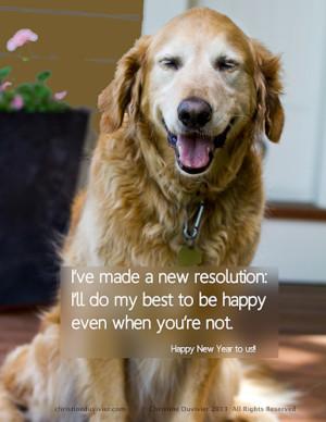 Happy Golden Retriever Photo and Quote