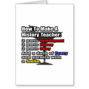 How To Make a History Teacher Cards