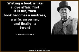 ... , and finally - a tyrant - Winston Churchill Quotes - StatusMind.com